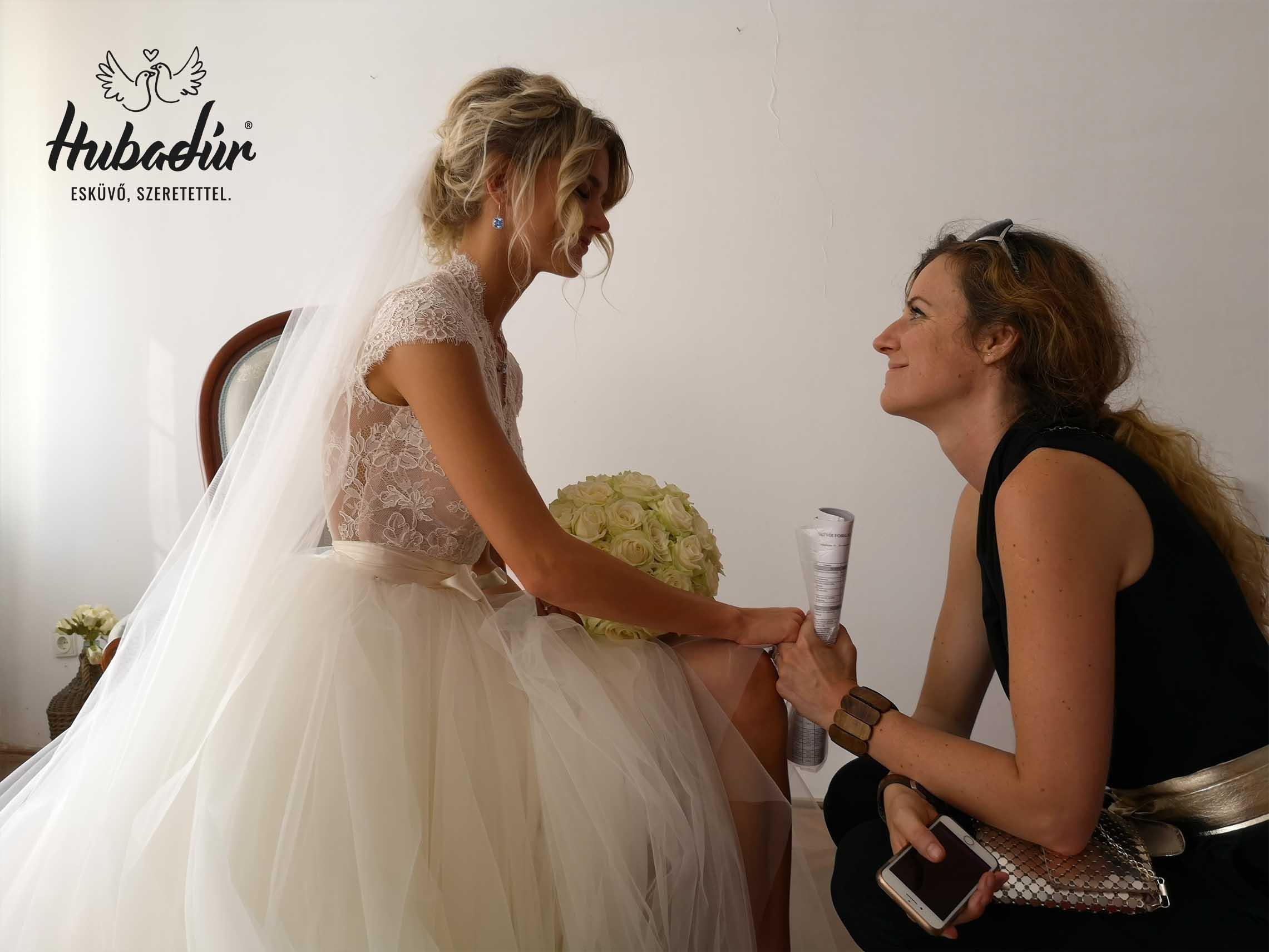 Weisz Fanni esküvője: Utolsó pillanat a bevonulás előtt